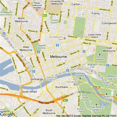 map  melbourne australia hotels accommodation