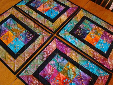 quilted placemat patterns modern batik patchwork quilted placemats set of 4