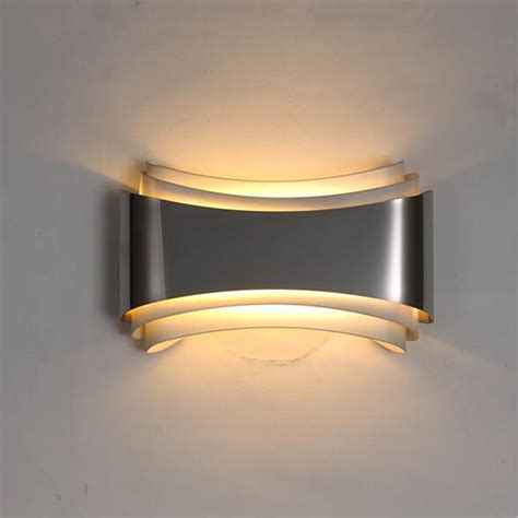 modern led wall lights  bedroom study room stainless