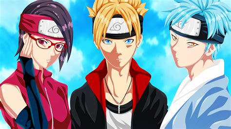 Sarada Boruto And Mitsuki Hd Wallpaper 1920x1080 #1638