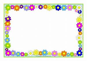 Flowers And Plants Editable A4 Page Borders Sparklebox
