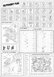 english exercises alphabet