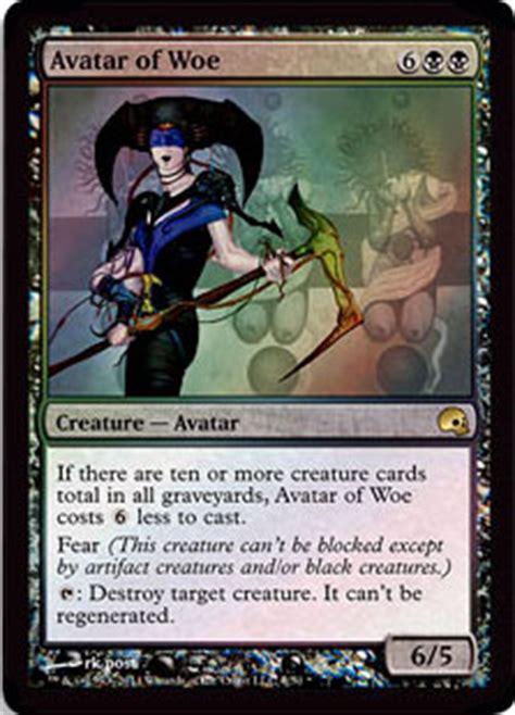 graveborn deck list visual avatar of woe from graveborn spoiler