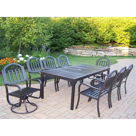 oakland living rochester 9 patio dining set with 2