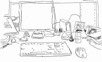 Desk Sketch Sketchbook Contour Flickr Pro App