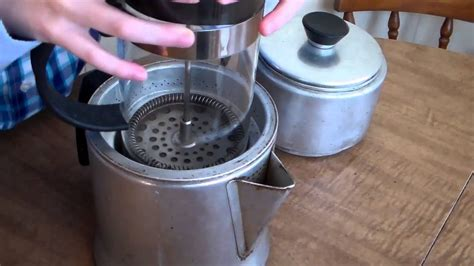 You put a ceramic mesh over your cup, fit in a filter paper, add coffee and pour boiling. Coffee with Dried Orange Peel & Spice in an Old Fashioned Coffee Maker - YouTube
