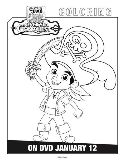 jake and the neverland coloring page disney captain jake and the neverland coloring