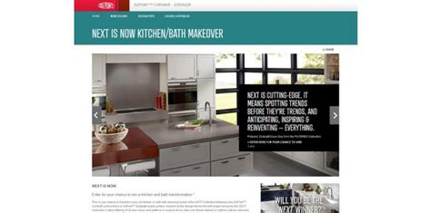 win kitchen makeover 2014 dupont new colors promotion win the next is now kitchen 1538