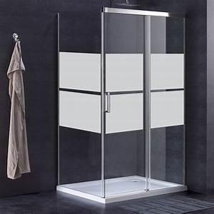 stickers muraux pour portes de douche bande pleine With porte de douche coulissante avec stickers pour carreaux salle de bain
