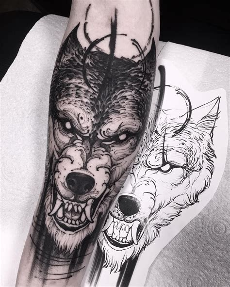 wolf head tattoo designs  ideas