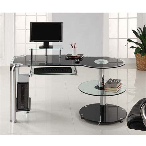 glass desk with storage why glass computer desks are the trend of this year