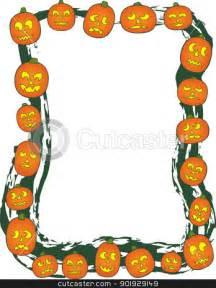 Halloween Pumpkin Border Clip Art