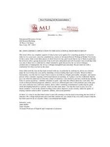 Sample Job Recommendation Letter Template
