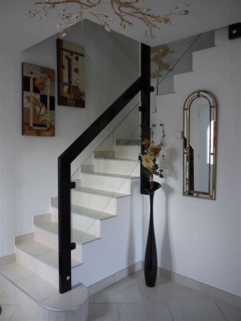 photo d escalier d interieur re d escalier interieur b 233 ton en verre et bois moderne drome 26