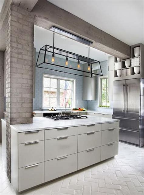 column style floor ls 25 modern kitchens and interior brick wall design ideas