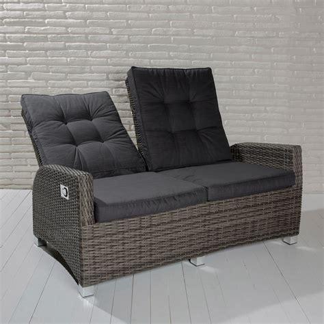 gartenmöbel 2 sitzer 2 sitzer gartensofa barcelona grau mix loungesofa sofa