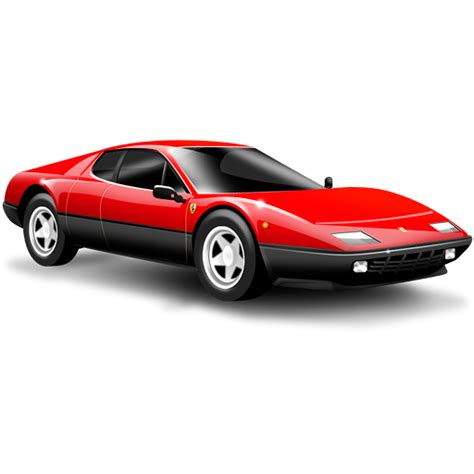 Sports Car, Car, Small Car, Red, Ferrari Icon