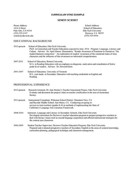 Curriculum Vitae Curriculum Vitae Samples Teaching Position. Cover Letter For Healthcare Marketing. Resume Samples. Resume Template Word For High School Students. Letter Of Application English. Cover Letter Content. Letter Of Resignation For Personal Reasons. Cover Letter For Newly Qualified Pharmacist. Letter Format Attachments