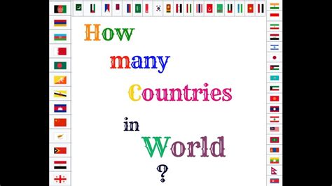 How Many Are In The World by How Many Countries Are There In The World 2017