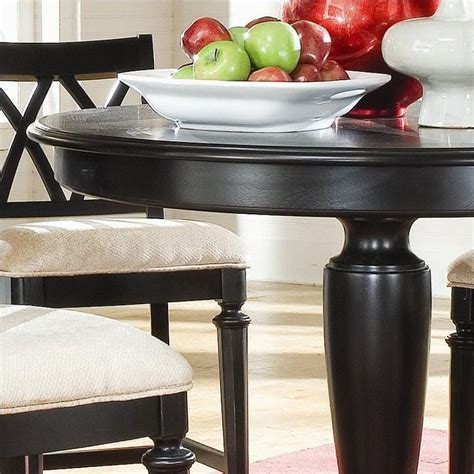 American Drew Camden Black Round Counter Height Pedestal