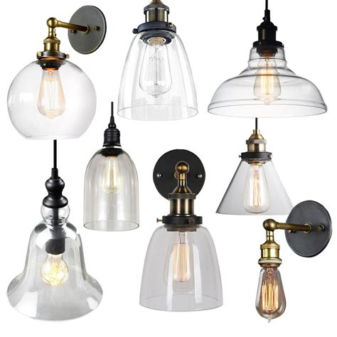 vintage glass l shade ceiling light pendant wall l wall sconce fixture bar ebay
