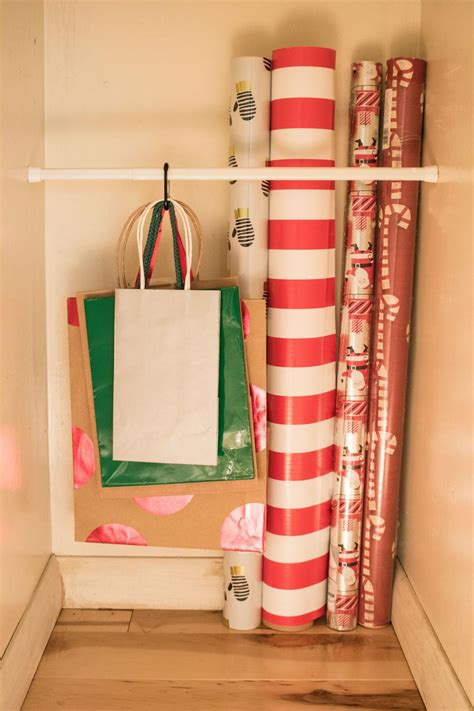 10 Ways To Organize Your Wrapping Paper And Gift Bags Hgtv