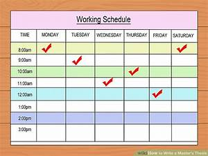 Dissertation proposal timetable