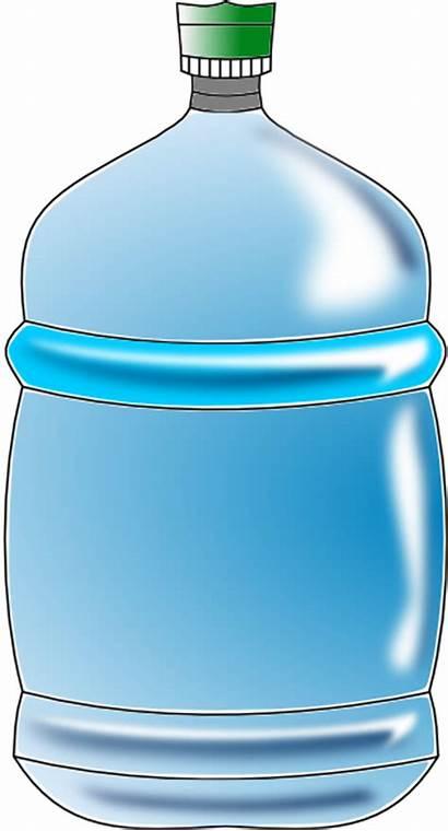 Bottle Water Clip Clipart Bottled Vector Cliparts