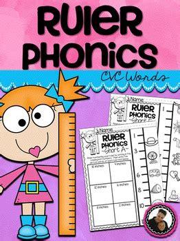 ruler phonics cvc words  prep printables  images