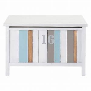 Coffre Jouet Blanc : coffre jouets blanc l 70 cm oc an maisons du monde ~ Teatrodelosmanantiales.com Idées de Décoration