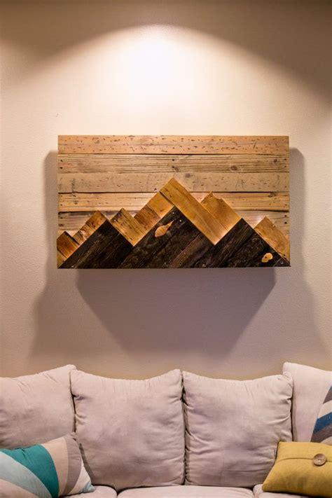 wood wall art wooden mountain range art   order