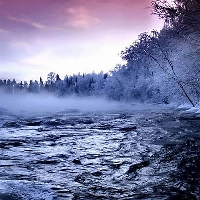 Ipad Winter Desktop River Wallpapers Scenery Mist