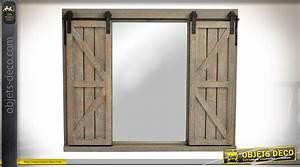 Grand Cadre Deco : grand cadre miroir fen tre en bois et m tal de 86 cm avec volets coulissants ~ Teatrodelosmanantiales.com Idées de Décoration