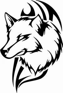 Tribal Wolf Sticker 49, tribal animals decal, tribal ...