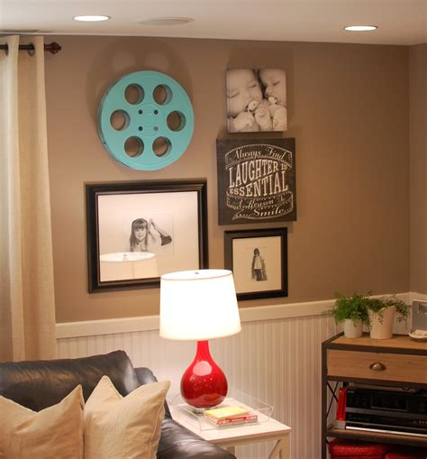 Decorating Ideas For The Walls by Basement Decorating Ideas A Pop Of Pretty Canadian