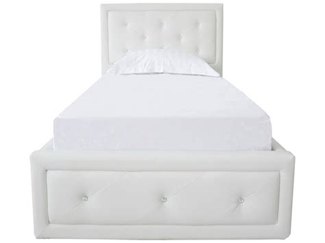 White Ottoman Bed Frame by Gfw 4ft6 White Faux Leather Ottoman Lift