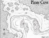 Cove Pirate Fantasy Map Wip Shots Coloring sketch template