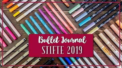 bullet journal stifte bullet journal stifte test meine stiftesammlung marker