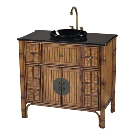 traditional asian style bathroom vanity cabinet