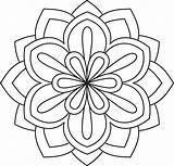 Mandala Coloring Flower Pages Simple Printables Patterns sketch template