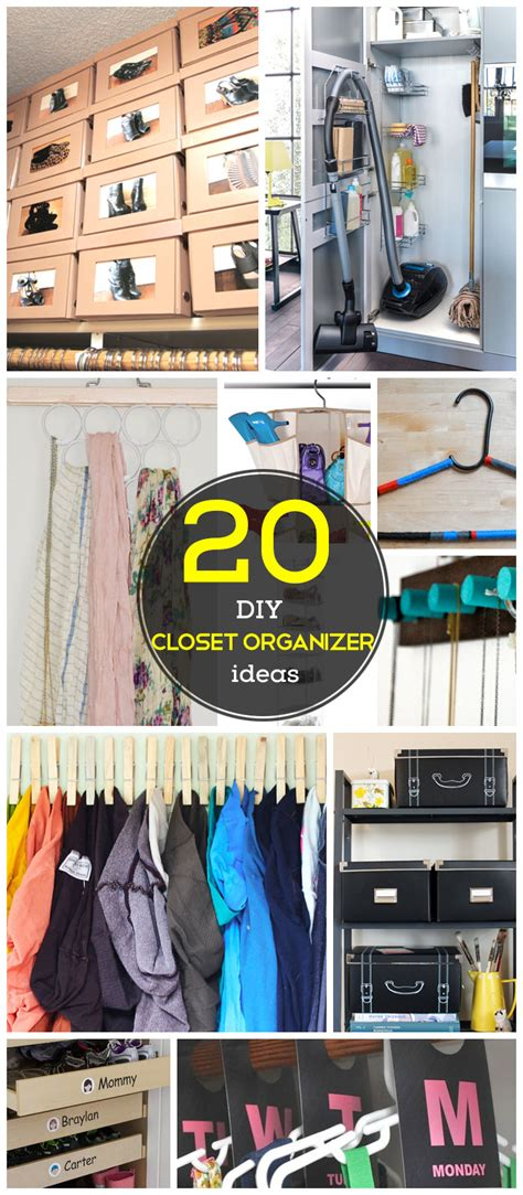 20 diy closet organization ideas for the home diy closet