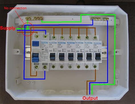 distribution board wiring diagram electrical engineering