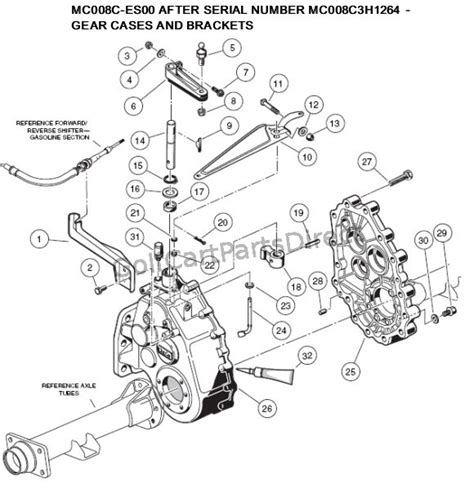 Ezgo Golf Cart Differential Diagram by 2000 2005 Club Car Ds Gas Or Electric Golfcartpartsdirect