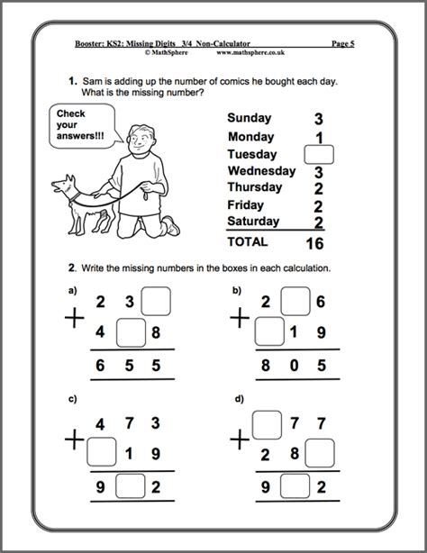 level 3 4 missing digits maths worksheets maths