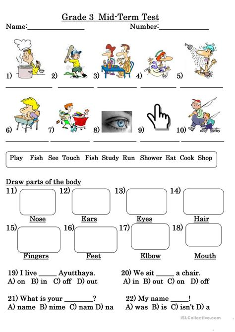 Usable Worksheets In English For Grade 3 Goodsnyccom