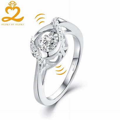 Ring Dancing Gold Jewelry Engagement Heart Gift