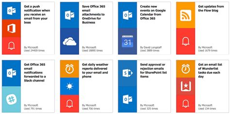 create automated workflows  microsoft flow