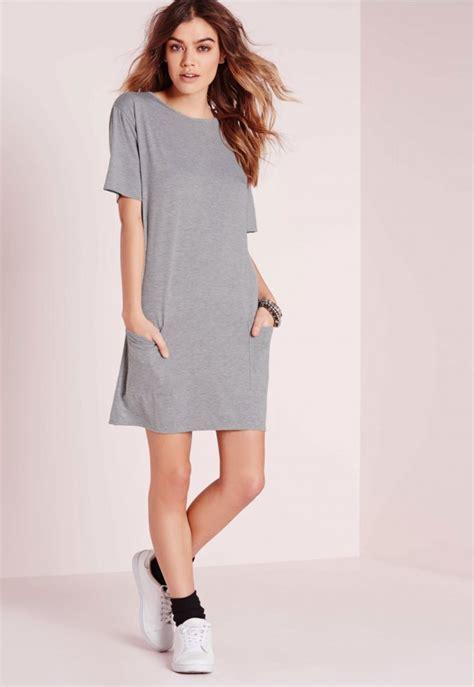 t shirt dresses jersey pocket front t shirt dress grey marl dresses
