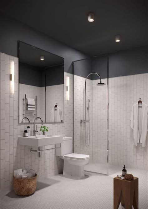 idees de decoration de salle de bain en noir  blanc