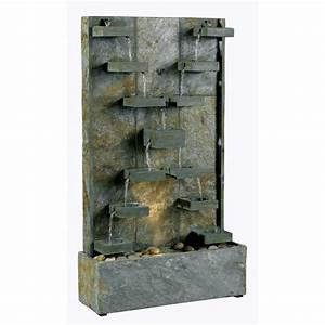 Slate floor fountains slate free standing water fountain for Floor water fountains